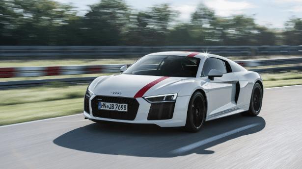 Audi R8 op openbare weg