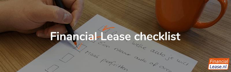 Financial lease checklist