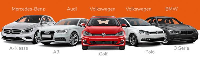 Top5 personenauto's voor ondernemers