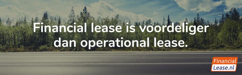Financial lease voordeliger